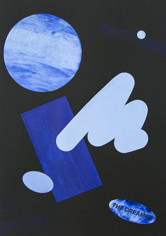 The Dreamer Blue Shapes Print