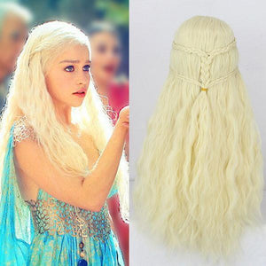 Cosplay Braiding Princess 613 Blond Hair Wigs - xikeoo