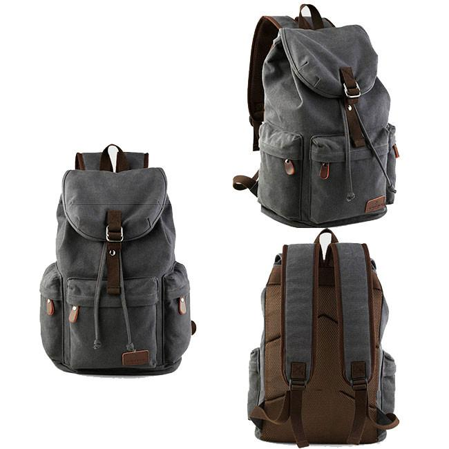 Retro Large Capacity Rucksack With USB Interface Flap Camping Travel Canvas Backpack For Big Sale!- cutespree.com