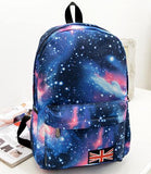 Shining Galaxy  Flag College Studet Backpacks