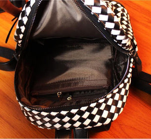 Unqiue Weave Glossy Grid Fashion Backpacks For Big Sale!- xikeoo.com