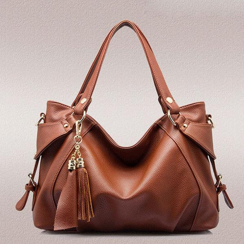 Fringed Leather Lady Shoulder Bag Handbags - xikeoo