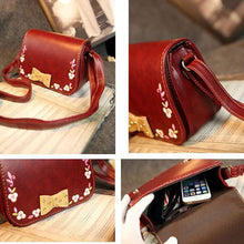 Load image into Gallery viewer, Folk Bowknot Embroidered Shoulder Bag Messenger Bag - xikeoo