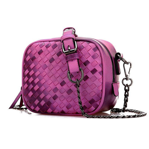 Fashion Gradient Small Chain Woven Square Shoulder bags - xikeoo