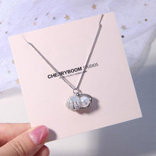 Load image into Gallery viewer, Cute Shell Pearl Silver Necklace Friend Gift Women Necklace