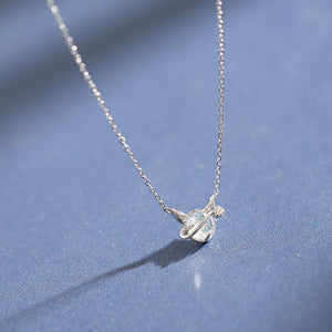 Fashion Little Devil Pendant Simple Dream Crystal Silver Temperament Necklace