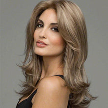Load image into Gallery viewer, New Wave Gradient Brown Hair Wig Medium Long Lady Hair Wig