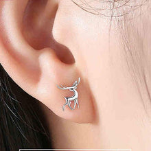 Load image into Gallery viewer, Cute Deer Animal Silver Female Elk Earrings Earrings Studs