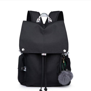 Fashion Waterproof Nylon Leisure Large Student Bag High School Backpacks