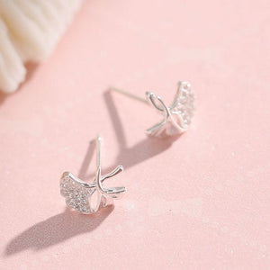 Unique Lotus Leaf Fresh Simple Silver Earring Studs