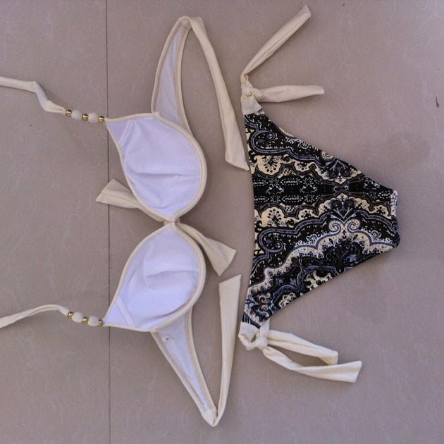 Sexy Gather Bras Bikini Swimsuit Swimwear Bathingsuit - cutespree