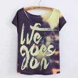 We Goes On Printed T-Shirt For Big Sale!- cutespree.com