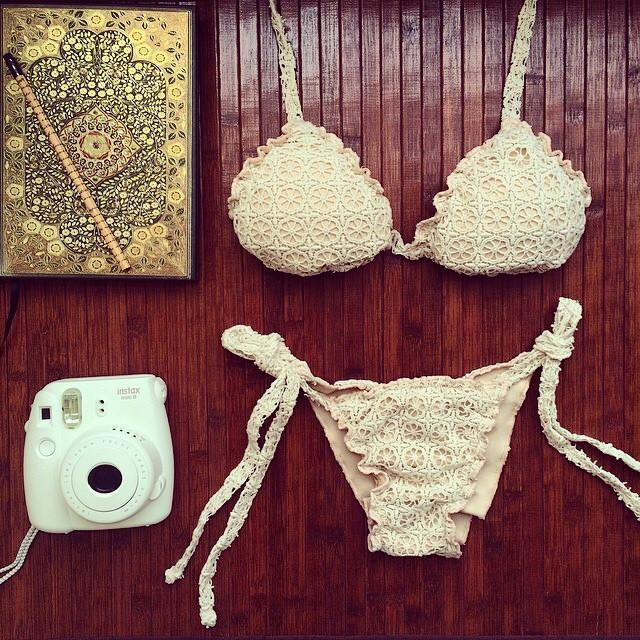 Triangle Sexy Halter Bikinis Set Lace Swimwear Beach Bathing Suit For Big Sale!- cutespree.com