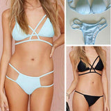 Sexy Swimwear Triangle Hollow Out Bikini Set Swimsuit For Big Sale!- cutespree.com