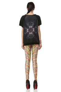 Creative Lucky Cat Printed Leggings - xikeoo