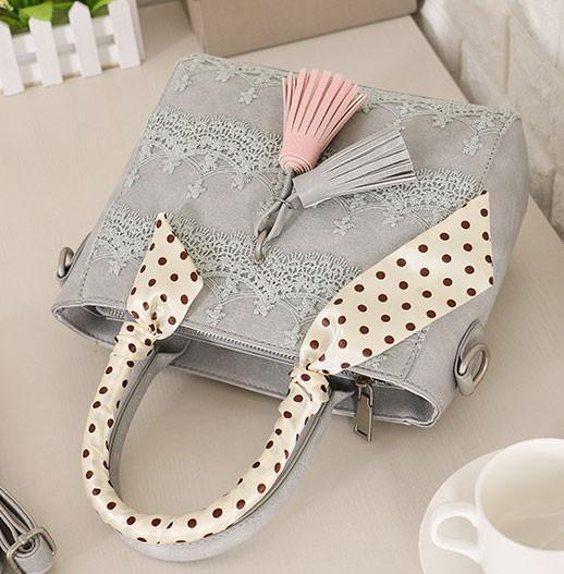 Lace Scarf Fringed Handbag Shoulder Bag Messenger Bag For Big Sale!- cutespree.com