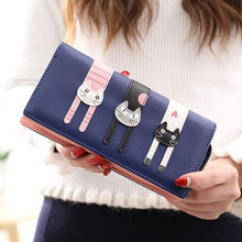 Load image into Gallery viewer, Cute Long Cat Zipper Wallet Lady Purse Kitten Clutch Bag For Big Sale!- xikeoo.com