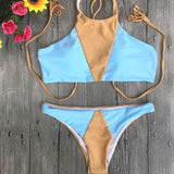 Mixed Color Split Swimsuit Triangle Bikini For Big Sale!- cutespree.com