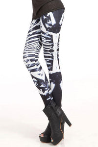 New Stretch Skeleton Printing Leggings - xikeoo