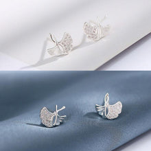 Load image into Gallery viewer, Unique Lotus Leaf Fresh Simple Silver Earring Studs