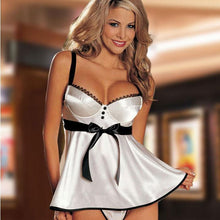 Load image into Gallery viewer, Sexy Nightdress Bow Sling Silky Pajamas Women's Lingerie