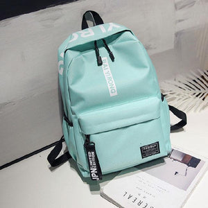 Simple Junior High School Student Bag Large Pure Color College Backpack
