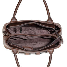 Load image into Gallery viewer, Retro Hollow Rings Leather Unique Handbag Shoulder Bag