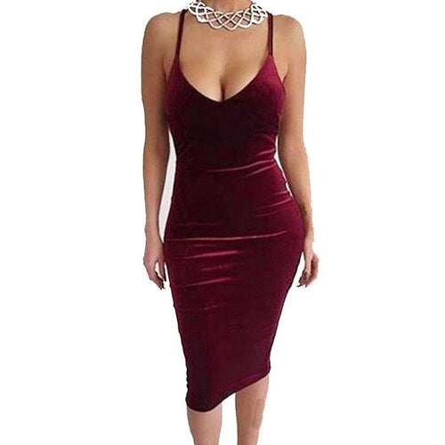 Sexy Women's Pure Backless Crossover Straps Braces Skirt Dress For Big Sale!- xikeoo.com