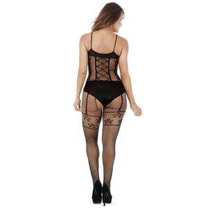 Sexy Net Stocking Sling Siamese Mesh Skinny Transparent Hollow  Jacquard Conjoined Lingerie