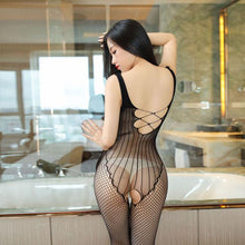 Load image into Gallery viewer, Sexy Fishnet Mesh Conjoined Stockings Underwear Hollow Vest Siamese Intimate Lingerie
