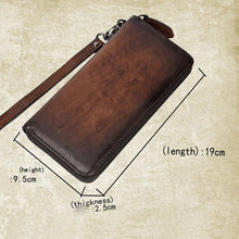 Load image into Gallery viewer, Retro Men's Phone Wallet Leather Large Purse Multi-card Business Simple Clutch Bag