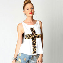 Load image into Gallery viewer, Unique Cross Leopard Printed Loose Vest For Big Sale!- xikeoo.com