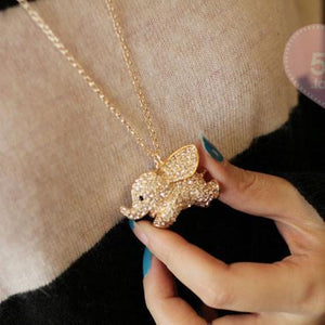 Super Cute Baby Elephant Animal Pendant Necklace For Big Sale!- xikeoo.com