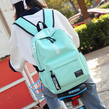Load image into Gallery viewer, Simple Junior High School Student Bag Large Pure Color College Backpack
