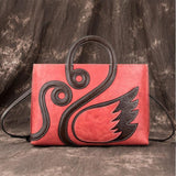 Retro Large Creative Swan Handmade Handbag Animal Shoulder Bag