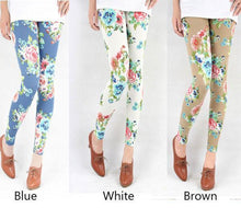 Load image into Gallery viewer, Vintage Latest Floral Print Graffiti Leggings For Big Sale!- xikeoo.com