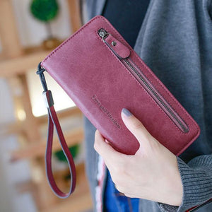 Retro PU Love Freedom Letters Zipper Purse Cellphone  Girl's Square Wallet Clutch Bag For Big Sale!- xikeoo.com