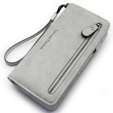 Load image into Gallery viewer, Retro PU Love Freedom Letters Zipper Purse Cellphone  Girl's Square Wallet Clutch Bag For Big Sale!- xikeoo.com