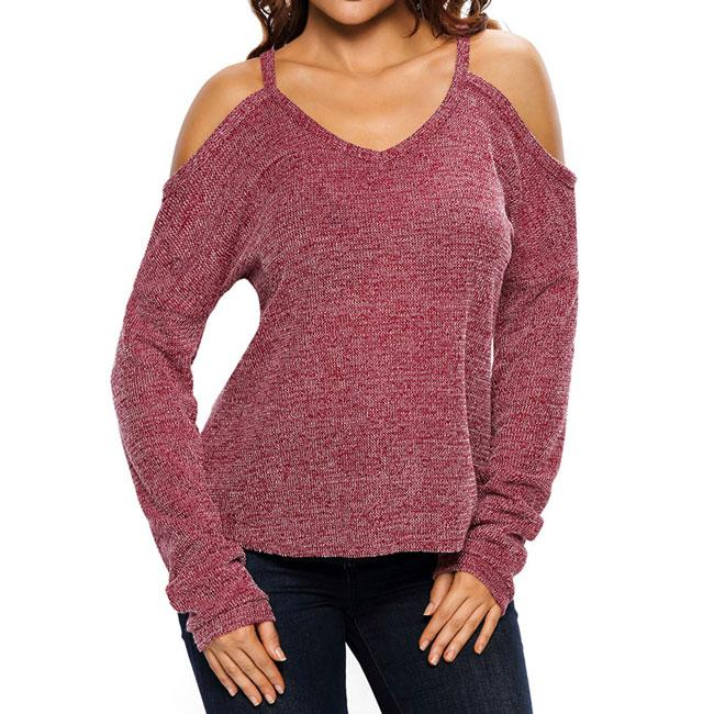 Whole Color Strapless Longer In the Rear Sexy Sweater For Big Sale!- cutespree.com