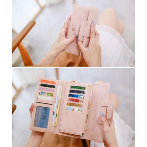 Retro Girl's Square Whole Color PU Purse Phone Wallet Clutch Bag For Big Sale!- xikeoo.com