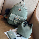 Retro Rivets Girl's PU Cartoon Metal Button School Backpack College Bag For Big Sale!- cutespree.com