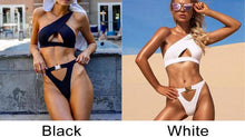Load image into Gallery viewer, Sexy Irregular One Shoulder Sling Summer Swimsuit Women Bikinis