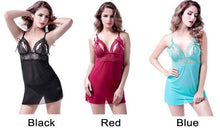 Load image into Gallery viewer, Sexy Mesh Pajamas Lace Nightdress Bow Sling Women's Lingerie