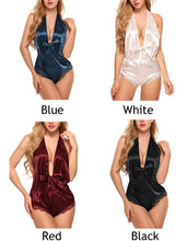 Load image into Gallery viewer, Sexy Conjoined Pajamas Women  Lace Sling Backless Lingerie