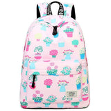 Cute Animal Vegetable Watercolour Painting Lovely Fruit School Canvas Backpack For Big Sale!- cutespree.com