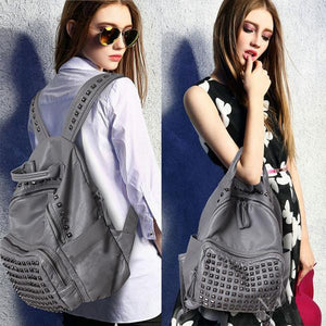 Vintage Rivet Waterproof Backpack For Big Sale!- xikeoo.com