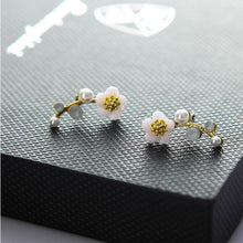 Load image into Gallery viewer, Sweet Plum Blossom Flower Pearl Earrings Shell  Branch Earring Studs