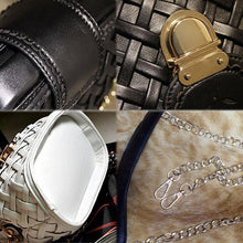 Load image into Gallery viewer, Retro Chain Weave Grid Leisure Shoulder Bags - xikeoo