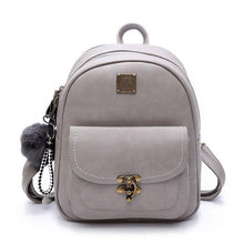 Load image into Gallery viewer, Retro Lock Button Retro Pure Color Student Bag Women Backpack