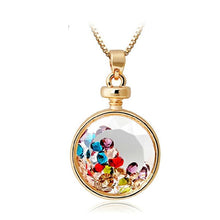 Load image into Gallery viewer, Colorful Wishing Crystal Bottle Pendant Necklace - xikeoo